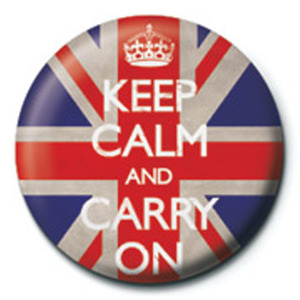 PB1949 Keep Calm and Carry On (Union Jack) 뱃지